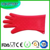 Wholesale Silicone Heat Resistant BBQ Grill Oven Gloves for Cooking, Baking, Smoking & Potholder from china suppliers
