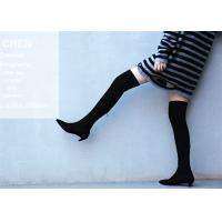 Wholesale Top Grain Cowhide Upper Knee Length Boots / Kitten Heel Knee High Boots Fashion Design from china suppliers