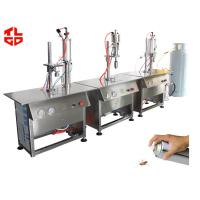 Wholesale Semi Automatic Aerosol Can Filling Equipment For Insecticide Pesticide Spray Bottle from china suppliers