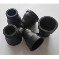 Black Custom Molded Rubber Parts , FKM Rubber Molded coveres with  65 Shore A