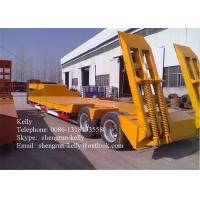 Quality OEM 3 - axle 	Low Bed Semi Trailer equipment for Transport excavator for sale