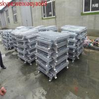 Wholesale Folding Wire Mesh Container/ Stackable Storage Cage/ security cage/pallet cage/metal bin/metal storage building from china suppliers