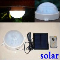 Wholesale 5 LED solar powered wall lamp remote control leds garden decoration solar Security Lamps light outdoor solar lamp from china suppliers