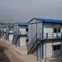 Buy cheap A fire rating K type rock wool sandwich panel prefabricated house for worker camp from wholesalers
