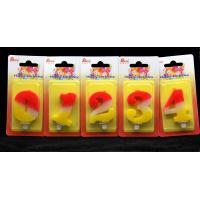 Wholesale Contrast Color 100% Handmade Number Candle with Red and Yellow Coloring from china suppliers