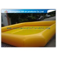 Wholesale Indoor / Outdoor Yellow Above Ground Inflatable Pool For Backyard Water Game from china suppliers