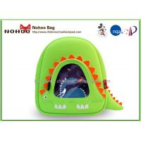Wholesale Green Toddler Shark Backpack , Cool Kids Backpacks Neoprene Material from china suppliers