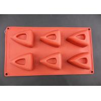 Quality Nontoxic & odorless silicone cake mould, 6 triangular cavities cake mould FDA / LFGB approved for sale
