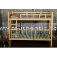 Wholesale Natural Kids Wooden Bunk Beds , Contemporary Eco - Friendly Wooden Loft Bed from china suppliers