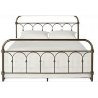 Wholesale Atmosphere Adults Designs Plain Metal Frame Full Bed , 125mm Height King / Queen Size Iron Bed from china suppliers