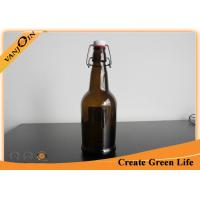 Wholesale Barware 500ml Brown Glass Wine Bottles / Glass Beer Bottles With Swing Top Cap from china suppliers