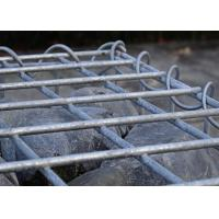Wholesale SGS Galvanized Wire Gabion Baskets Silver Color 3.0 - 6.0mm Wire Gauge from china suppliers