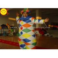 Wholesale Nylon Multicolor Inflatable Clown Costume With Hat Suitable For 1.8 Meters Man from china suppliers