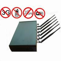 Buy cheap Adjustable High Power 6 Antenna WiFi   GPS   Cell Phone Jammer from wholesalers