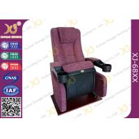 Wholesale An Ergonomic Comfortable Aircraft Type Headrest Cinema Theater Chair Folding Seat from china suppliers