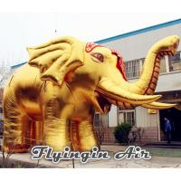 Wholesale Customized Inflatable Gold Elephant for Outdoor Decoration and Display from china suppliers