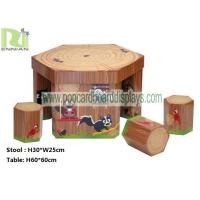 Wholesale Regular Hexagon Cartoon Cardboard Desk and Chair with Maze for Children from china suppliers