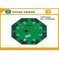 Buy cheap 48 Inch 8 Person Poker Table MDF Casino Blackjack Poker Table Custom Poker Table Tops from wholesalers
