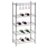 Wholesale Wine Rack/Promotional Metal Free Standing Food Display Rack Blue For Shop / Store from china suppliers