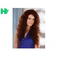 Wholesale New Stylish Elegant Long Synthetic Curly Wigs , 55CM Natural Synthetic Wig from china suppliers