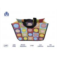 Wholesale Smile Collection Non Woven Shopping Bag Customized Handle For Launch Promotion from china suppliers