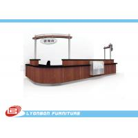 Wholesale High End Hotel Brown Wood Reception Desk Custom With Finished Surface from china suppliers