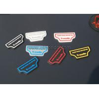 China Personalized Design Custom 3D Embossed Name Logo Soft PVC Rubber Patches on sale
