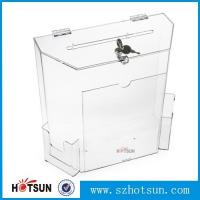 Wholesale wholesale acrylic donation/ suggestion/ money box from china suppliers