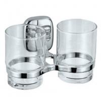 Wholesale Chrome Finish Toilet Accessories Double Toothbrush Holders, 2084D from china suppliers