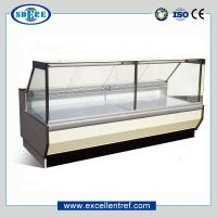 China serve over counter display refrigerator showcase, flat glass type on sale