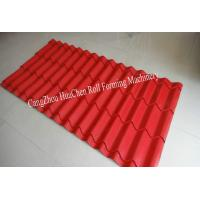 Wholesale Colored Steel Glazed Tile Roll Forming Machine , Durable Roll Form Machine from china suppliers