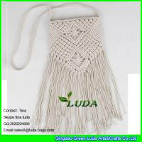 Wholesale LDMX-005 macrame white cotton rope crochet shoulder bag from china suppliers