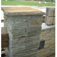 Wholesale Green Slate Column,Natural Stone Pillar,Ledgestone Pillar,Green Stone Postbox,Gate Green Pillar from china suppliers