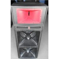 Wholesale dual 18'' horn-loaded speaker with 3'' top speaker 1.6 meter height subwoofer loudspeaker pro audio speaker box system from china suppliers