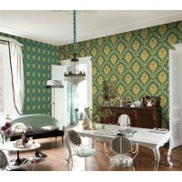 Wholesale PVC Wallpaper  Damask Chinese Wallcovering Vendor European Style Room Sofa Background from china suppliers