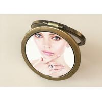 Wholesale Personalized PU Leather Makeup Cosmetic Pocket Mirror With Custom 3D Printing from china suppliers