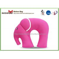 Quality 3D Cartoon Pink Elephant Neck Pillow For Baby Neoprene Material for sale