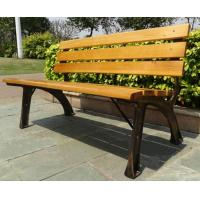 Wholesale Stable Metal / Wood Structure Decorative Outdoor Furniture Modern Outdoor Bench With Backrest Board from china suppliers