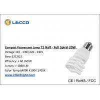 Wholesale Half - Full Spiral E27 20w Cfl Bulb Compact Fluorescent Lamps 1200 LM PBT Plastic Cover from china suppliers