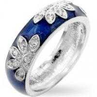 Wholesale Rhodium Plated Brass Base Fashion Jewelry Rings Flower Blossom Enamel from china suppliers