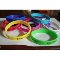 Buy cheap 100% Silicone Sport Colourful Printing Custom Silicone Wristband For Adult Size 210x12x2mm from wholesalers