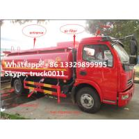 Wholesale Dongfeng xiaobawang diesel 95hp 5000 liter mobile refueling trucks, factory sale best price dongfeng 5m3 oil tank truck from china suppliers