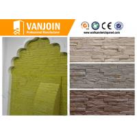 Wholesale Exterior Soft Stone Tiles , Fireproof Outside Wall Brick Tile Anti - crack from china suppliers