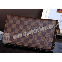 Quality Brown Leather LV Wallet Double Lens Camera For Poker Analyzer 30 - 40cm for sale
