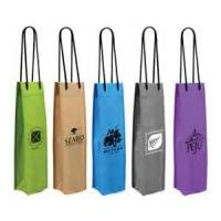 Wholesale Personalized Full Color Wine Gift Bags Non-Woven Silk Screen Printing from china suppliers