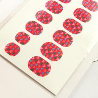 Wholesale Canada's National Flag Pattern / Paper Finger Nail Sticker Wraps For Kids from china suppliers