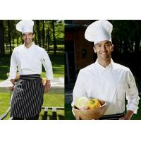 Long Sleeve Custom Work Shirts , Double Breasted Side Open Chief Cook Uniform for sale