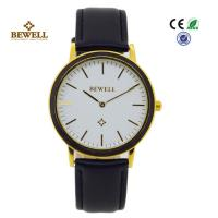Wholesale Black Sandalwood And Matte Black Stainless Steel Wrist Watches With Leather Starps from china suppliers