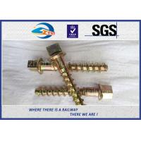 Wholesale Black Painting / Zinc Rail Sleeper Coach Screw Spike UIC864-1 from china suppliers
