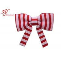 Wholesale Two Colors Stripe long festive ribbon tying christmas bows , gift wrapping ribbon bows fashion design from china suppliers
